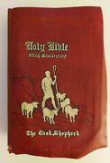 Vtg '46 Holy Bible The Good Shepherd Edition Christian Workers 500th Anniversary