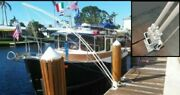 Mooring Whips For Large Boats 35and039 To 65and039 Dual System 4 - 14and039 X 1 Free Shipping
