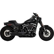 Vance And Hines 47941 Black Big Shots Staggered Exhaust System For 18-20 Softail