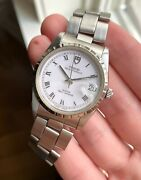 Vintage Tudor Oysterdate Automatic 74020 White Roman Numeral Dial Watch