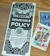 The Best Insurance Policy Vintage 1970and039s -- Funny Kh Card Revelation --tmgs