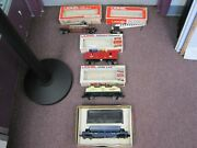 Lot Of 4 Lionel Freight Cars And 1 Operating Crossing Gate W/original Boxes