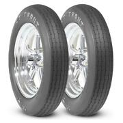 2 - Mickey Thompson Et Front Tires 26x4.0-17 Drag Racing Runner Pair 26x4-17