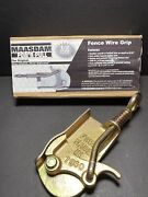 Wire Fence Cable Puller Stretcher Maasdam Powand039r Pull 8050 1/2 Ton Capacity New