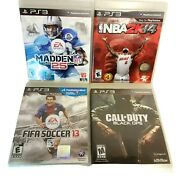 Ps3 4 Game Lot Nba 2k14, Madden Nfl 25, Fifa Soccer 13, Call Of Duty Black Ops