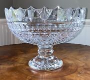 Waterford Pedestal Bowl 8.5andrdquox11.25andrdquo Signed Michael Vereker 2007 Rare Piece