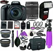 Canon Eos Rebel T7i Digital Slr Camera With Canon Ef-s 18-135mm Is Stm Lens
