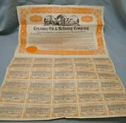 1922 Texanna Oil And Refining Company 15 Year First Mortgage Gold Bond W/coupons