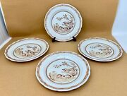 Furnivals Brown Quail 6 Bread And Butter Plates - Lot Of 4