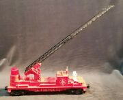 Postwar Lionel 3512 Fire And Ladder Co. Fire Fighting Car Nice - Untested