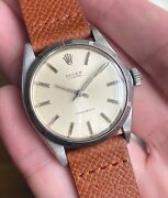 Vintage Rolex Oyster Precision 6427 Vintage Manual Wind Silver Dial Steel Watch