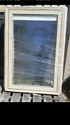 New Nice Pella Wood Picture Home Window W/ Tan Cladding And Blind 35x53 7 Jamb