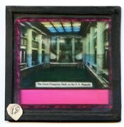 White Star Line Ss Majestic The Great Pompeian Bath Antique Glass Slide