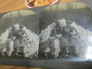 Old Antique Amazing Cotton Pickers Black Americana Stereoview Card