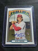 2021 Topps Heritage Real One Auto Alec Bohm Rookie Rc Roa-ab - Pack Fresh