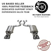 Corsa 21002gnm 304ss Valved Axle-back Exhaust System Quad Rear For Mustang 18-19