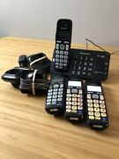 Panasonic Kx-tge240 Base Home Telephone Cordless 4 Handsets And Chargers Tested