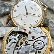 ✩ Vintage Record 022-18 Swiss Made 50s Wrist Watch 17 Jewels Gold Plated