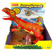 Fisher Price Imaginext Mega T Rex L6577 Red Dinosaur Battery Operated 2007 17
