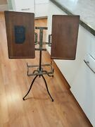 Beautiful Antique Library Book Music Bible Stand 4pc Adj Tilt Lin Noyes Chicago