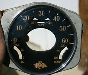 30and039s Reo Vintage Speedometer And Gauge Face Glass Lens And Case