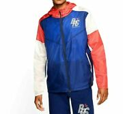 Nike Men Blue Ribbon Sports Blue Running Track Jacket Cj4502-492 Size Large L-xl