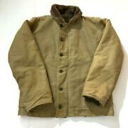 Vintage Us Navy N-1 Deck Jacket 40s Mid-term Men's Outerwear Rare Old Clothes