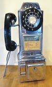 Vintage Automatic Electric Co. Chrome Pay Phone - Great Condition - With Key