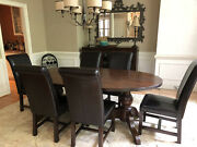 6 Leather Dining Chairs Dark Brown Purchased - Tequila Kola Hong Kong