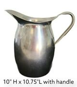 Farm House Farmhouse Vintage Lg Vollrath Military Water Pitcher Stainless Steel