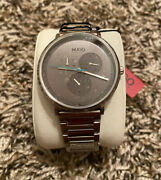New Hugo Boss Guide Stainless Steel Watch Gray Dial 1530010 Free Shipping