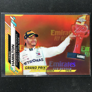 2020 Topps Chrome Lewis Hamilton Grand Prix Winners 70th Anniversary Gold 137