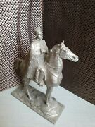 Russian Soviet Commander Red Army War Chiapayev On Horse Statue Sculpture Bust