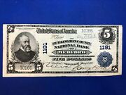 Series 1902 5 Medford Burlington County National Currency