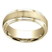 14k Yellow Gold 8.00 Mm Comfort-fit Menand039s Engagement And Wedding Band Ring Sz-10