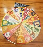 Lot Of 17 Full Size Vintage Nfl 70's 2 Bar Pennants 1970's Pennant