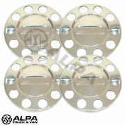 4 X Truck Wheel Trims 22.5 Front Polished Stainless Steel Scania Volvo Daf Merc