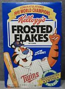 1991 Kelloggs Frosted Flakes Minnesota Twins World Champions Cereal Box Full New