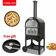 Outdoor Pizza Oven 13 Inch 13 Portable Wood Fired Machine Charcoal Bbq Firewood