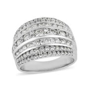 10k White Gold Cluster Ring White Diamond Gift Size 7 Ct 2 H Color I3 Clarity