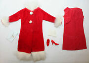 Vintage Japanese Barbie Fashion, Two Piece Fashion And Accessories Red Velvet Coat