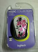 Sealed Logitech Wireless Mouse M325c Compact Size Floral Spiral Scuffing