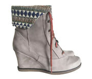 Anthropologie Holding Horses Foldover Leather Wedge Boots 37