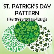 St. Patrick's Day Patterned Htv 19.66 Roll Free Shipping