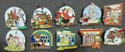 Disney- New Fantasyland - Beauty And The Beast Mystery Complete 10 Set Pins