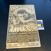 Jean-claude Van Damme Signed Knock Off Large Movie Poster With Jsa Coa