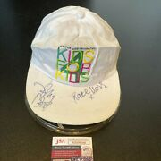 Johnny Depp And Kate Moss Signed Autographed Baseball Cap Hat With Jsa Coa
