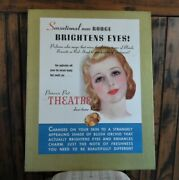 Orig./stunning 1930's Princess Pat Rouge Cosmetics Counter Sign/store Display