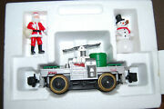 Lionel Operating Hand Car 1990 Santa And Snowman Large Scale Made In Usa 8-87203