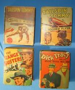 Very Old Big Little Bookstailspin Tommy, Range Busters,dick Tracylot Of 4